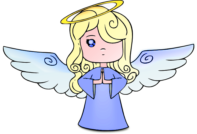 Blue Angel PNG Clipart.