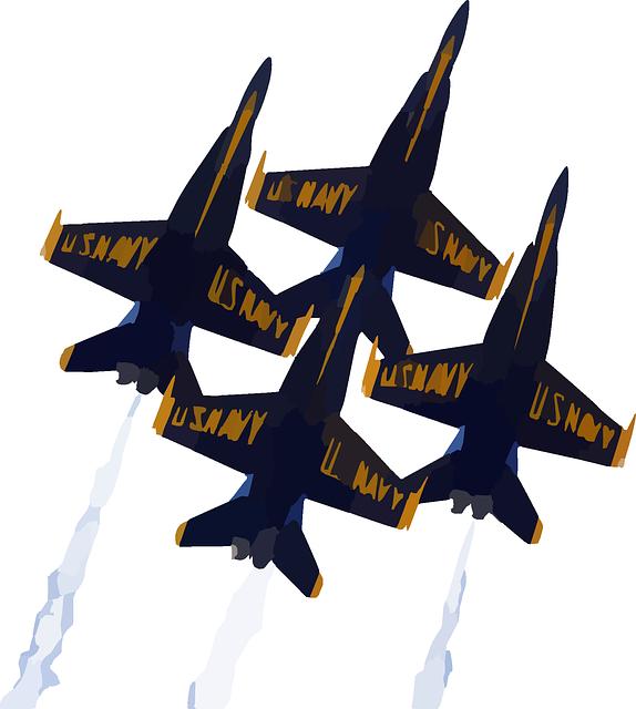 Blue angel plane clipart.