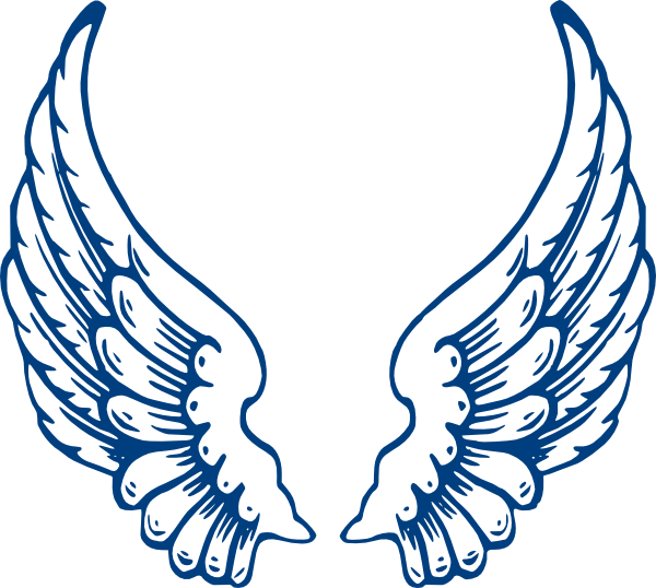 Blue Angel Wings Clipart.