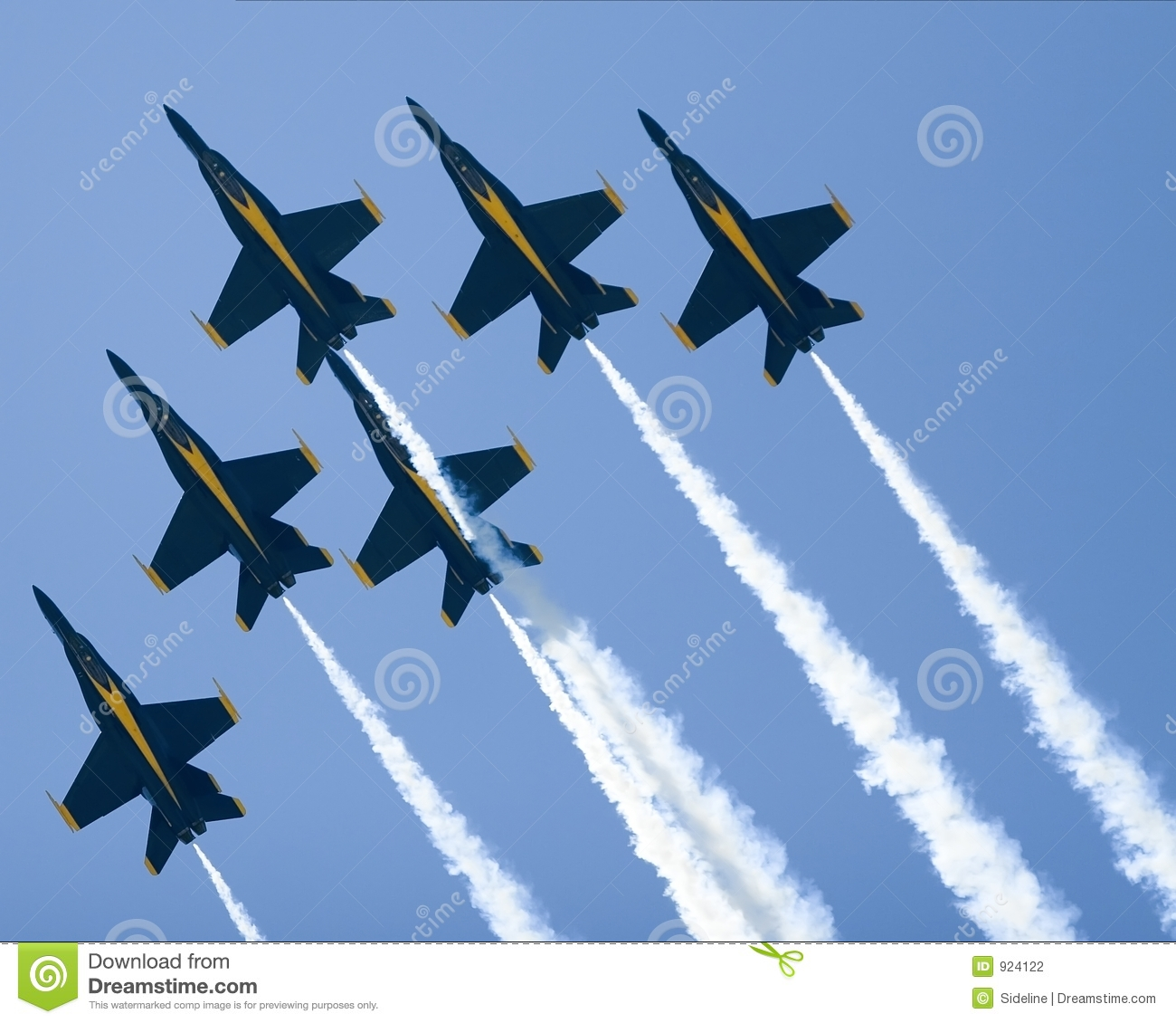 Blue Angels Delta Formation Stock Photography.