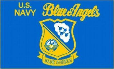 US NAVY BLUE Angels Flag 3x5 ft Logo Insignia USN Flight.