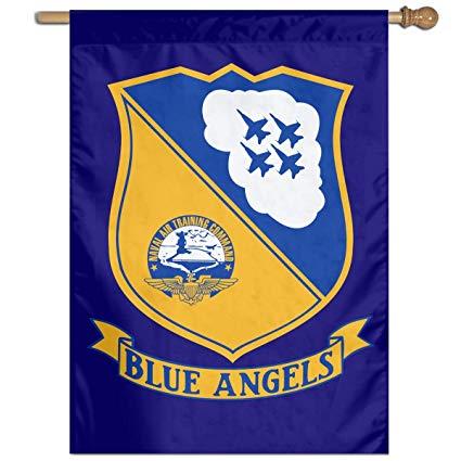 Amazon.com : HOOSUNFlagrbfa Us Navy Blue Angels Logo Garden.