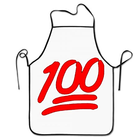 100 Emoji Red Logo Aprons Chef Personalized Kitchen Aprons.