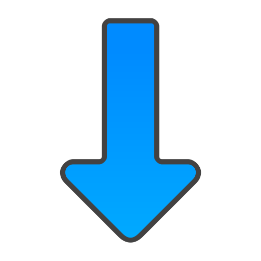Blue arrow down icon png #6694.