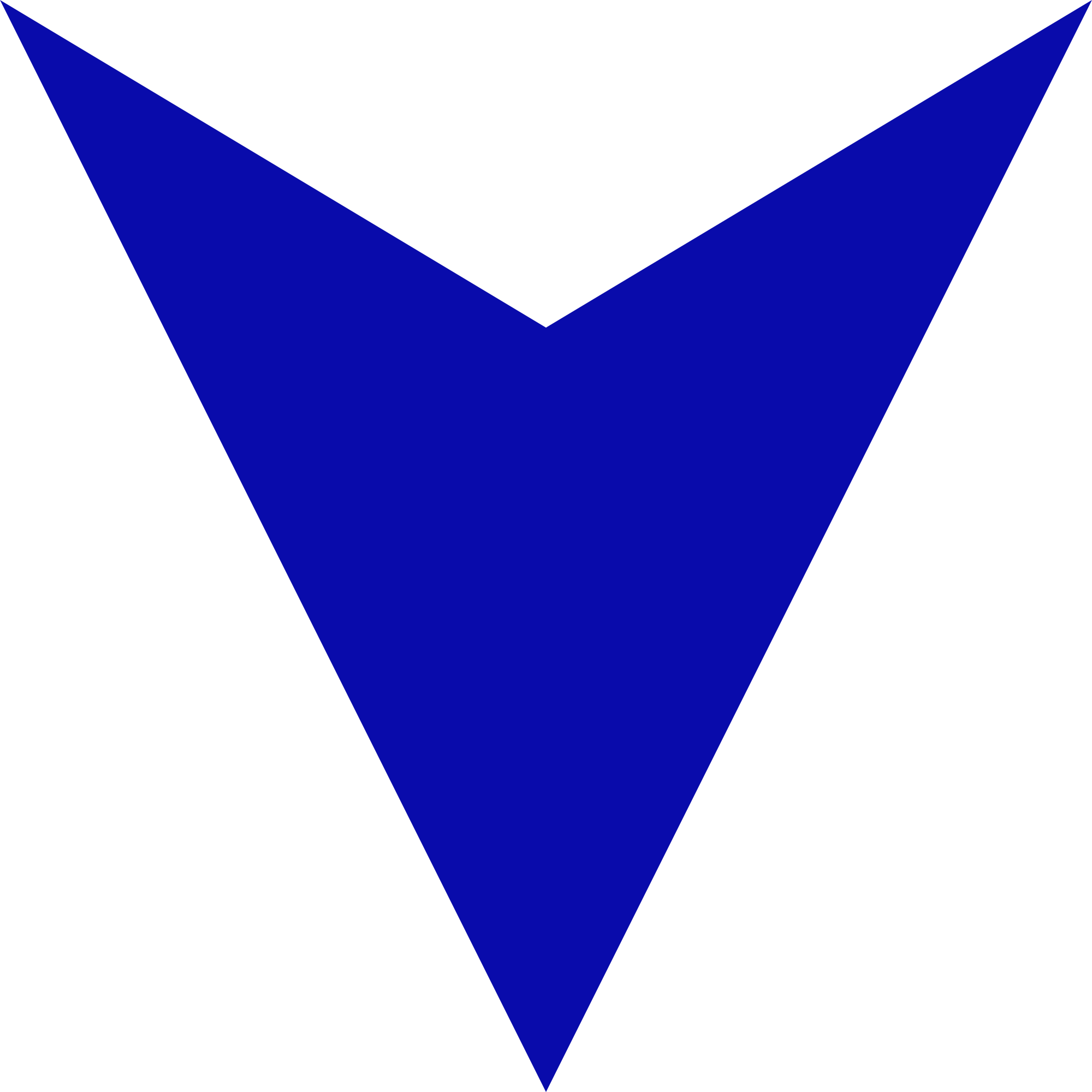 Blue arrow pointing down.