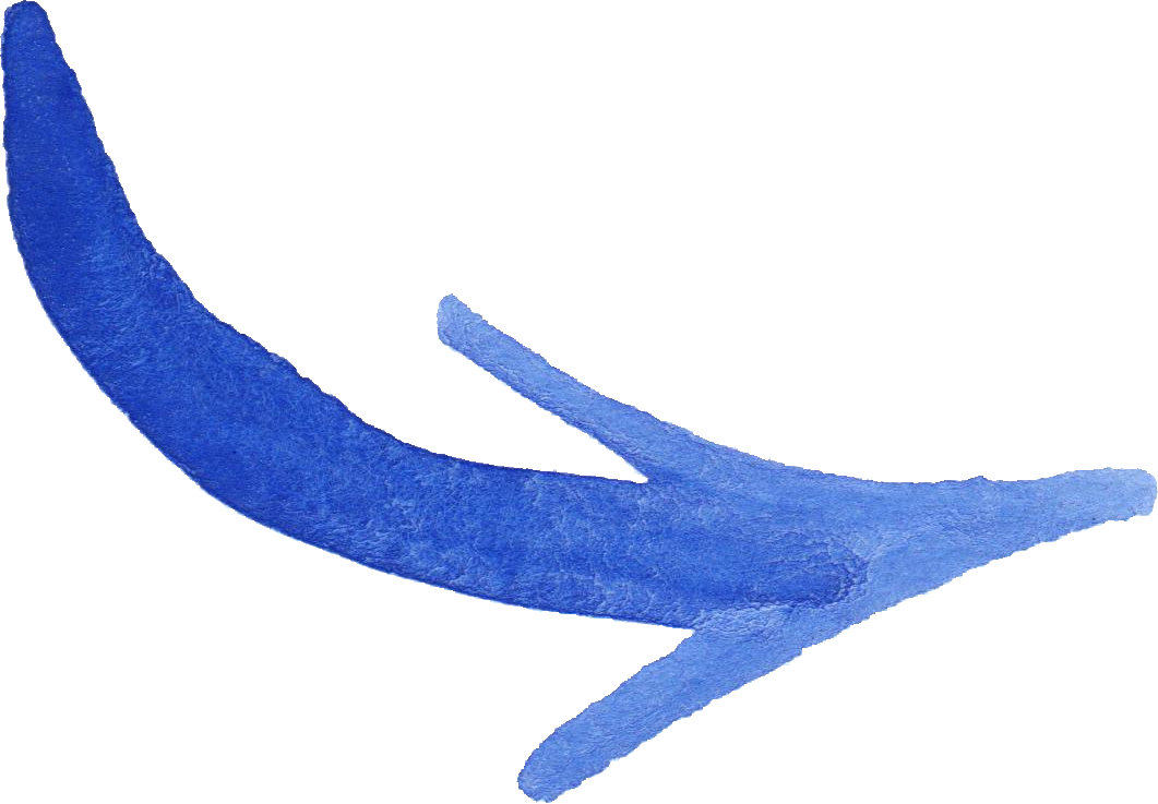 8 Blue Watercolor Arrow (PNG Transparent).
