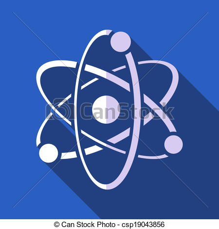 Clipart Vector of Atom.