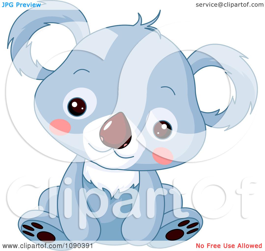 Baby Elephant Clip Art Baby Shower blue baby animal clipa...
