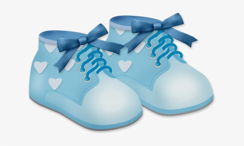 Vector Free Library Baby Shoes Clipart.