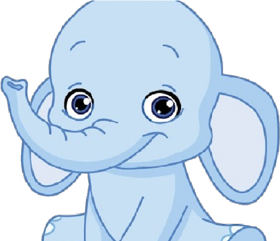Baby Animal Clipart Blue.