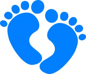 Download royalty free download blue baby footprints clipart.