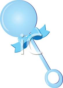 A Blue Baby Rattle.