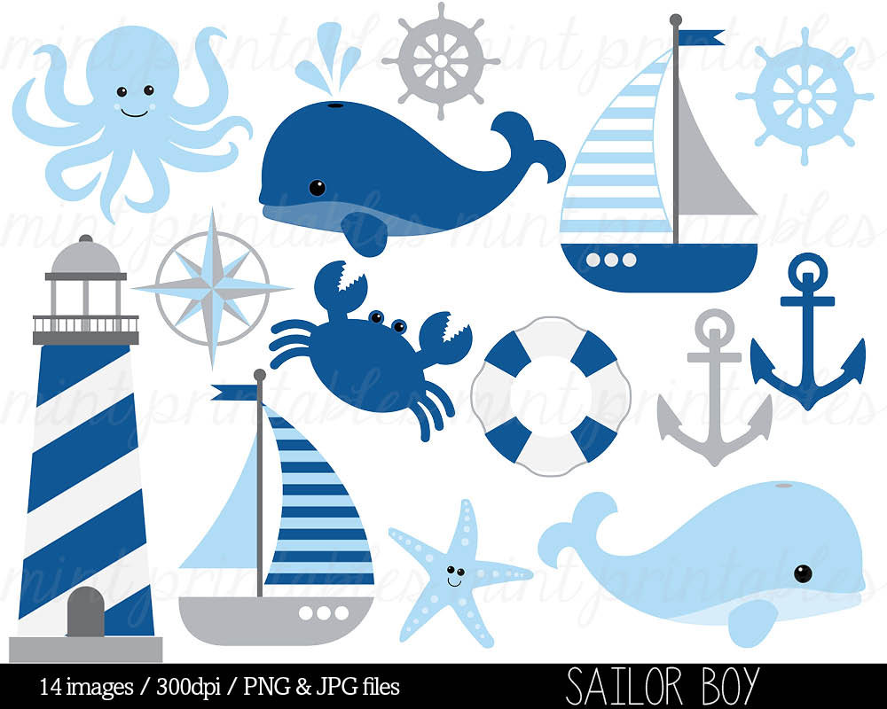 Blue Baby Sailboat Clipart Clipground