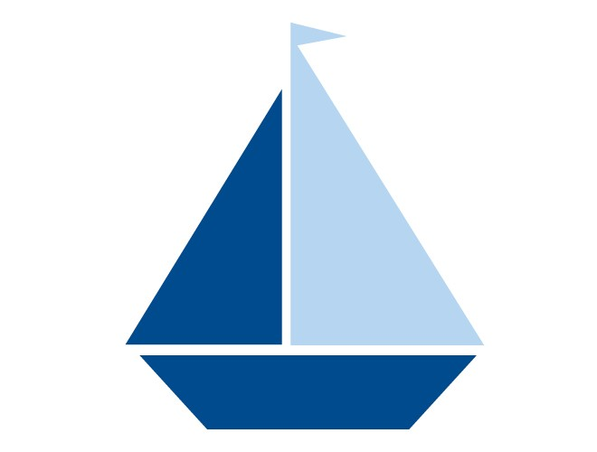 Blue Sailboat Clipart.
