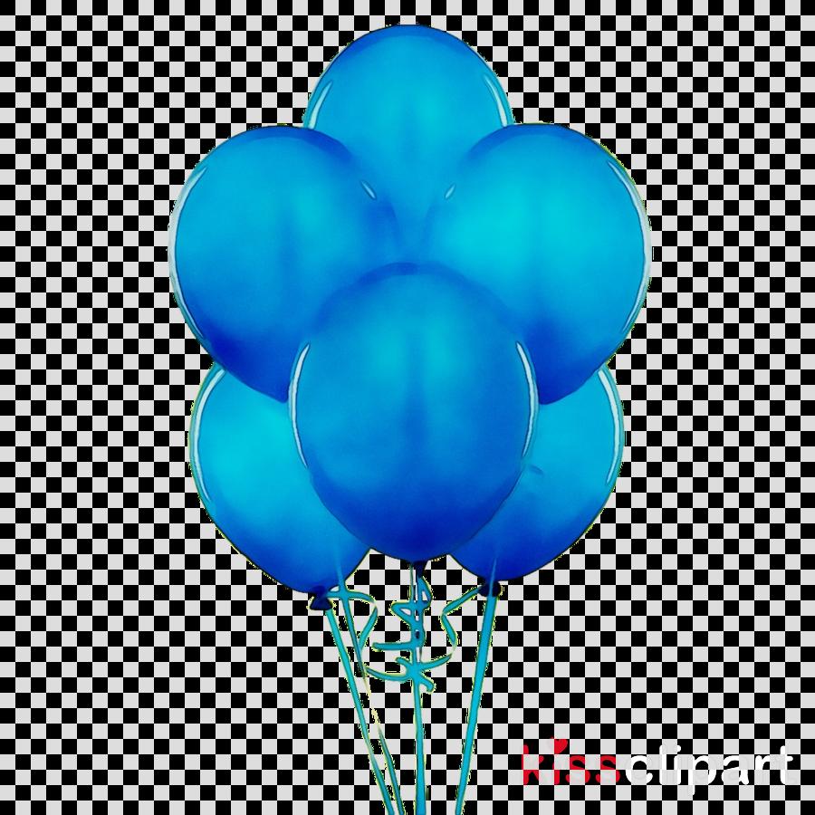 Blue Balloon clipart.