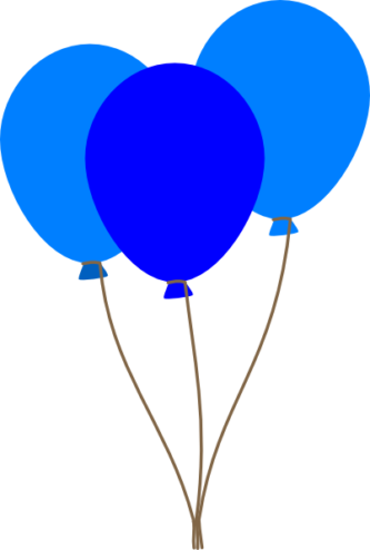 blue balloon clipart png
