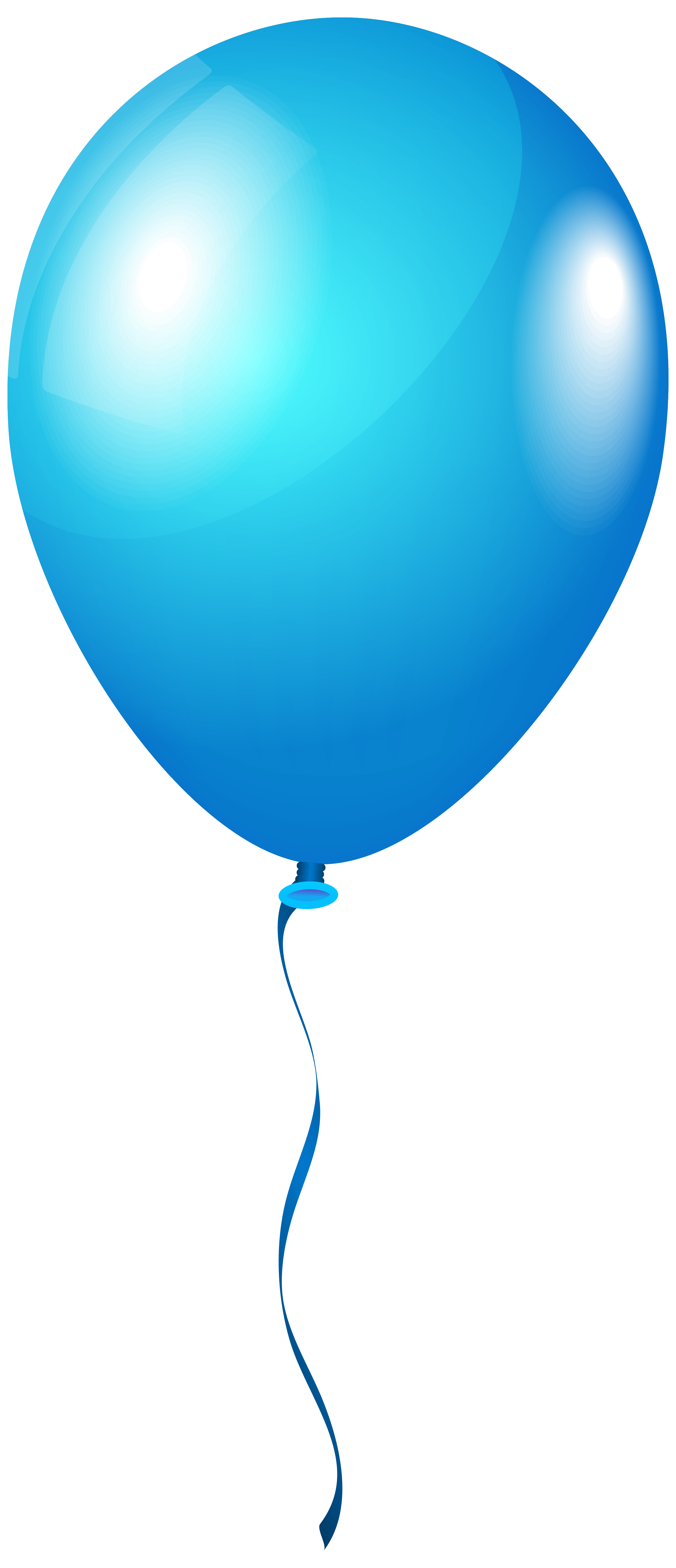 Single BlueBalloon PNG Clipart Image.