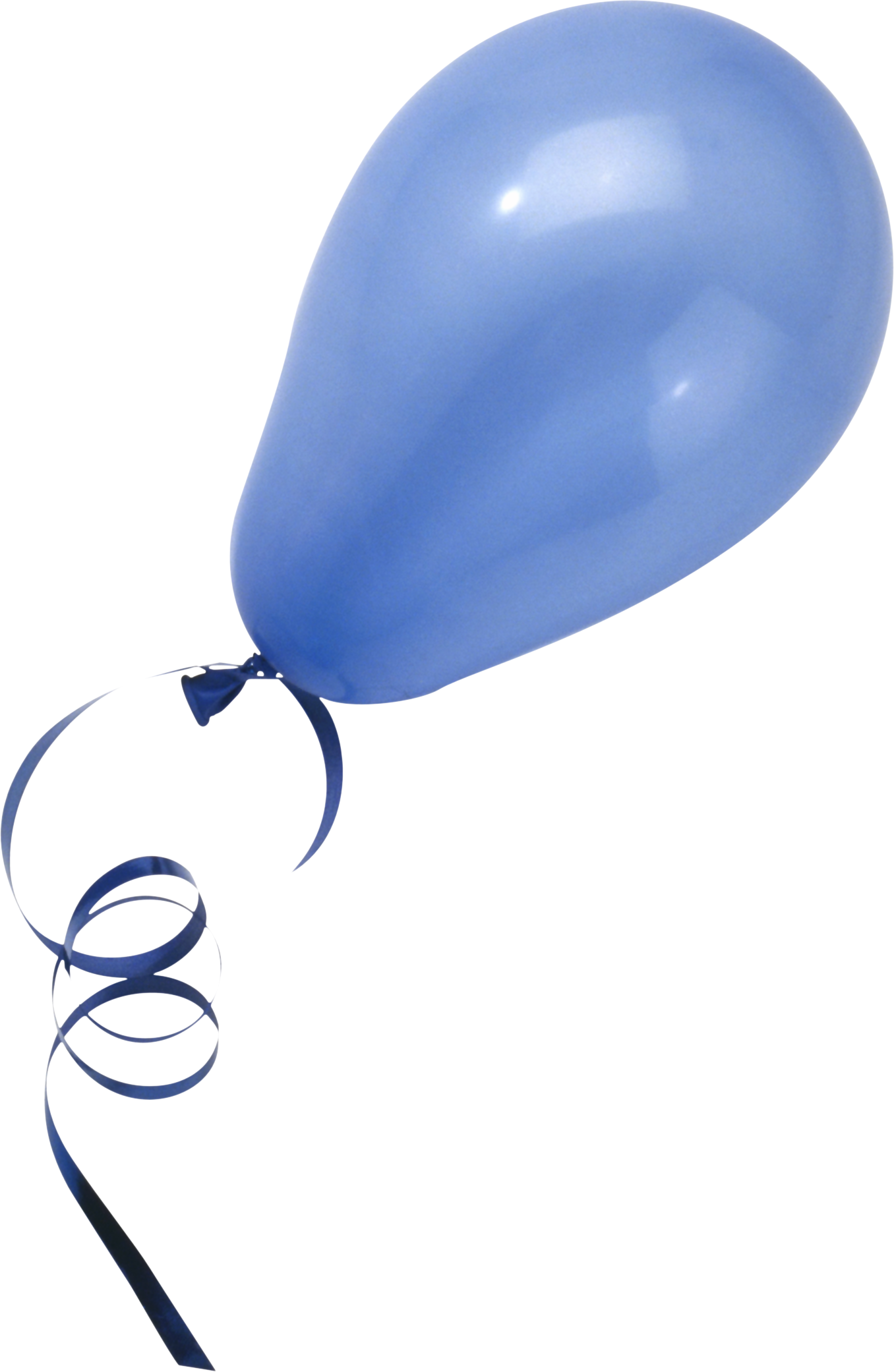 Blue Balloon PNG Image.