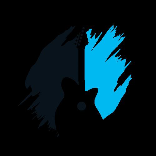 Blue Band Guitar Logo.