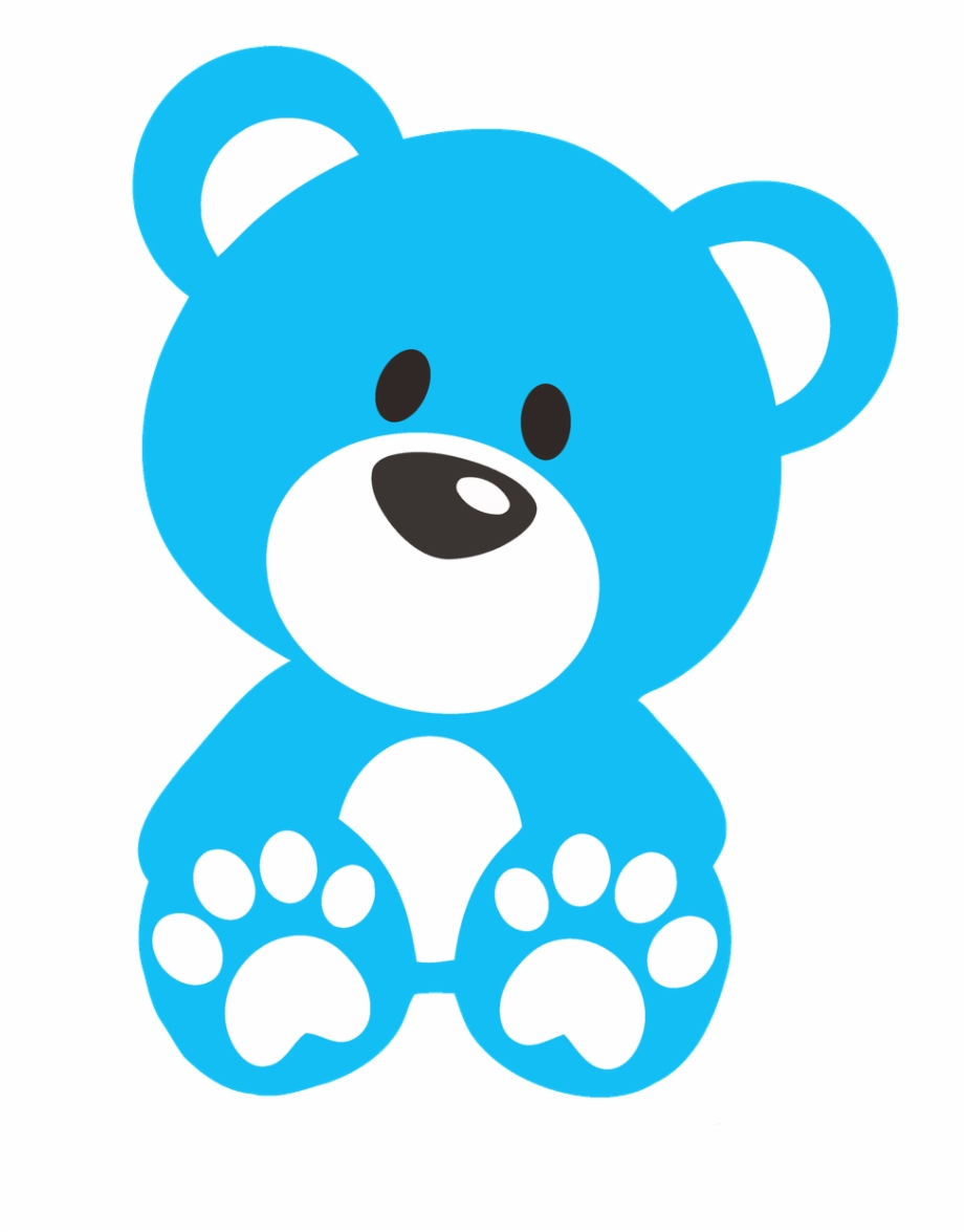 Download High Quality bear clipart blue Transparent PNG.