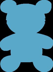 Blue Bear Clip Art at Clker.com.