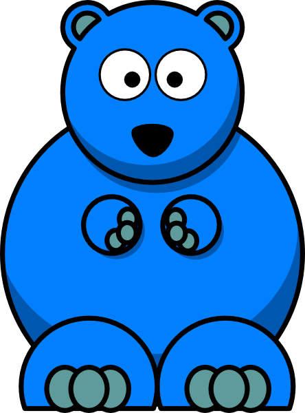 Blue Bear PNG, SVG Clip art for Web.