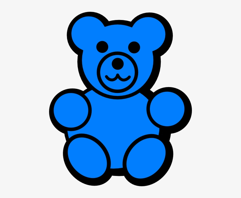 Download High Quality Teddy Bear Blue Transparent PNG Images.