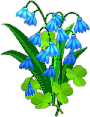 Blue Flower Animated Clipart.