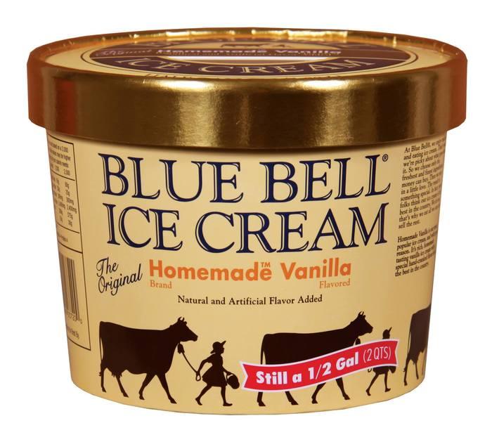 Blue Bell Ice Cream.