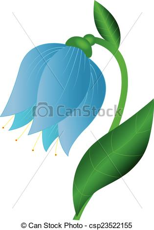 Clipart Vector of Blue flower.