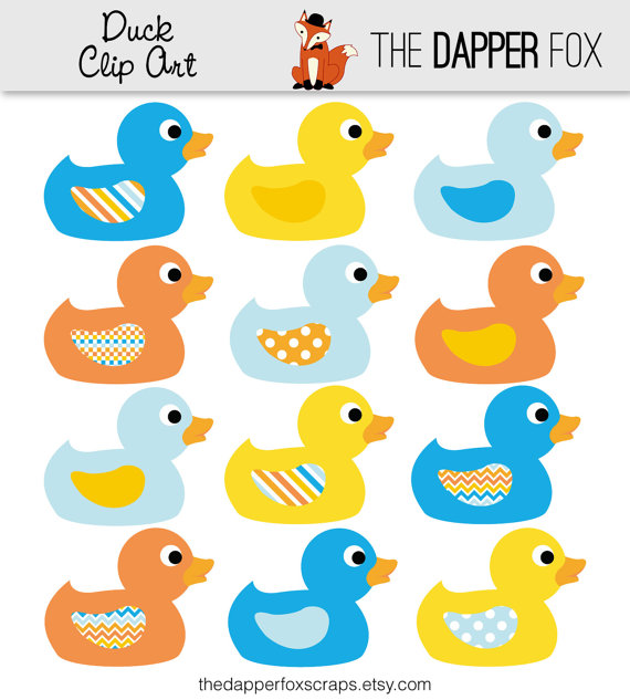 Orange Ducks Clipart.