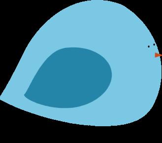 Chubby Blue Bird Clip Art.