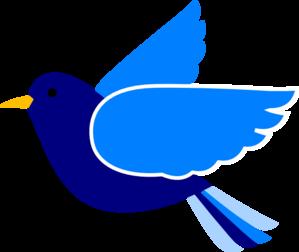 Blue bird clip art.