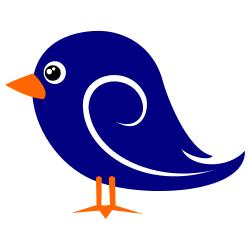 Baby blue bird clipart.