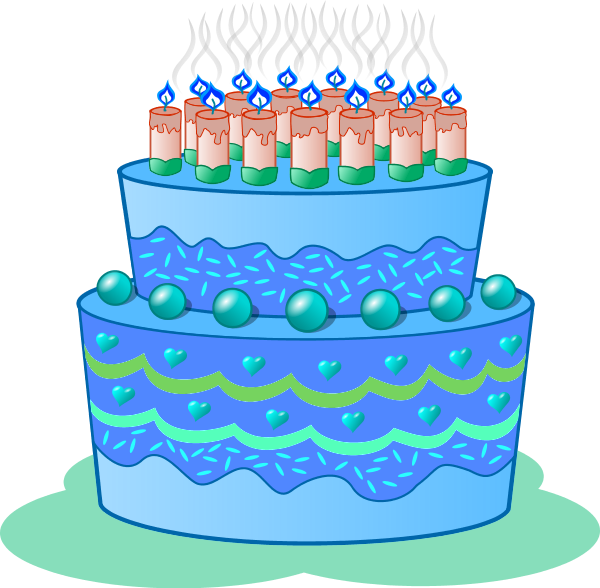Clipart cake blue, Picture #430445 clipart cake blue.