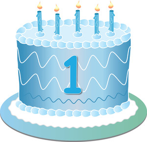 Free First Birthday Clip Art Image.