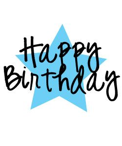 Free Happy Birthday Clipart and graphics to for invitations.