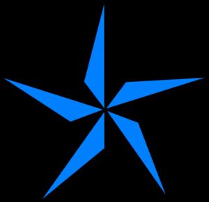 Blue & Black Texas Star Clip Art at Clker.com.