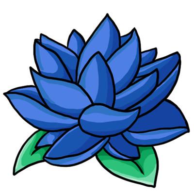 Blue blossom clipart.