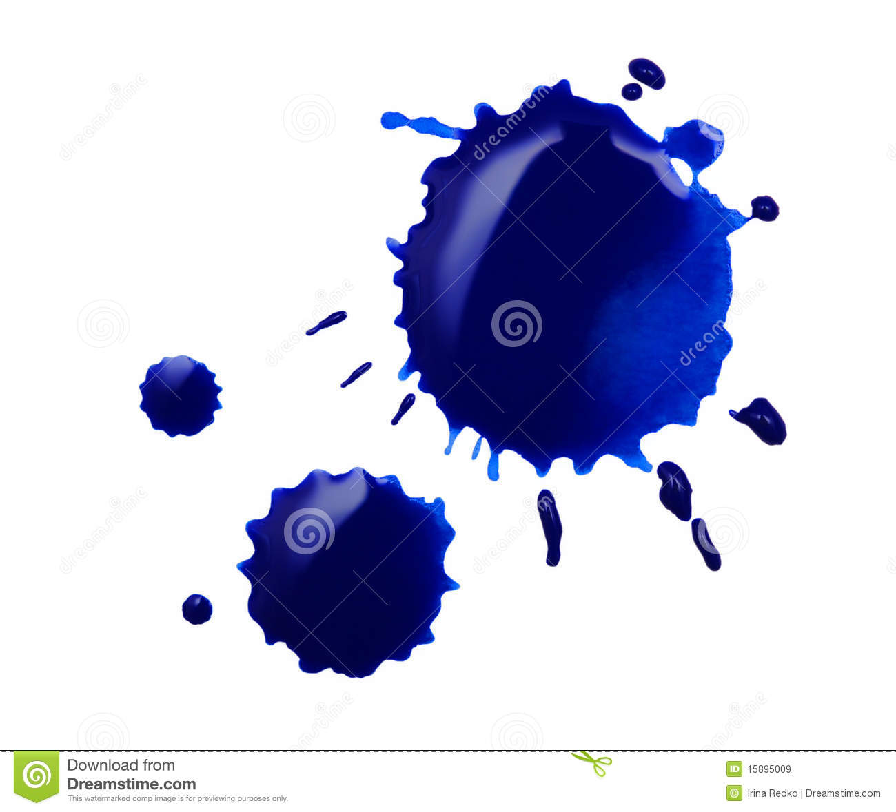 Blue Blot Royalty Free Stock Images.