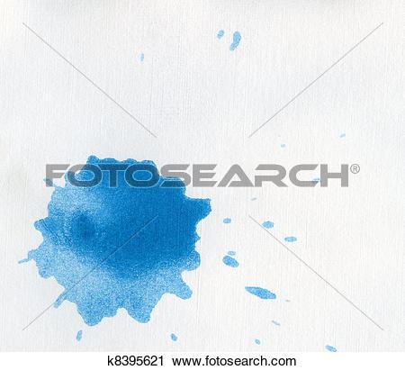 Clipart of blue blot k8395621.