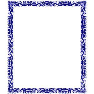 Blue Border Design clip art.