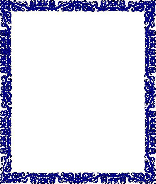 Borders Designs Blue Border Design Clip.