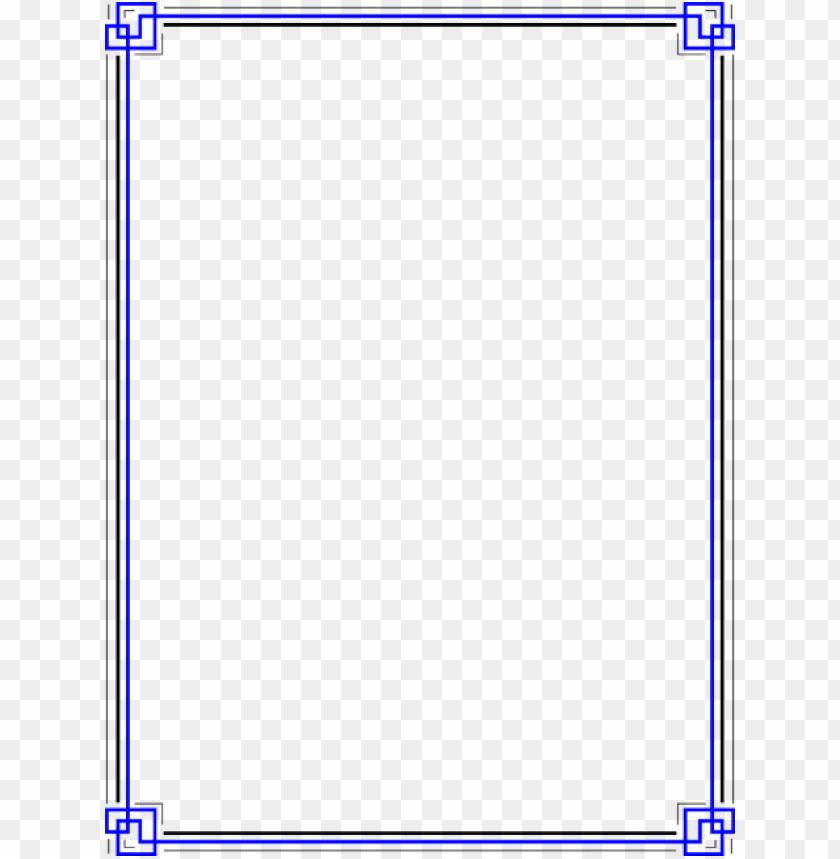 free png blue border frame png images transparent.
