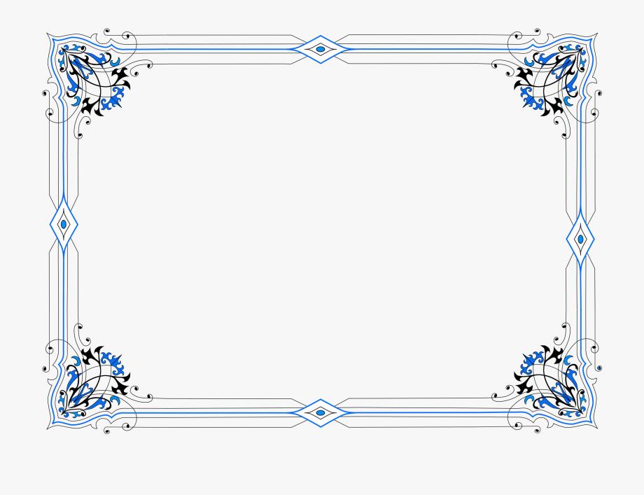 Decorative Border Clipart Half.