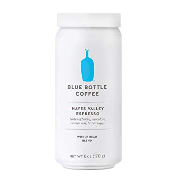 Blue Bottle Coffee, Hayes Valley Whole Bean Coffee, 6 Ounce Can.