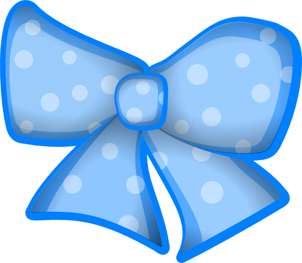 Blue Bow Png.