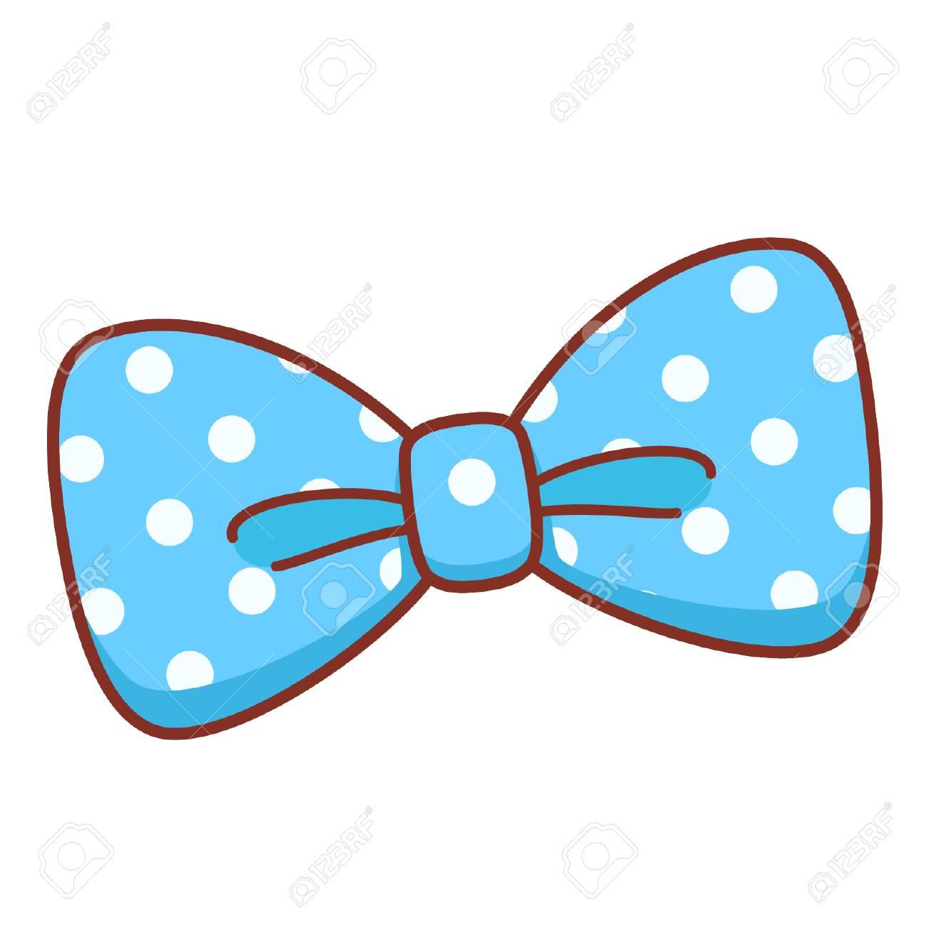 Cartoon blue bow.