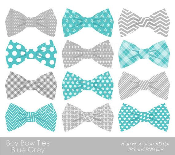 Bow Ties Clipart, Bowtie Clip art, Aqua Blue, Grey, only FOR.