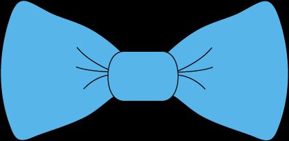 Blue Bow Clipart.